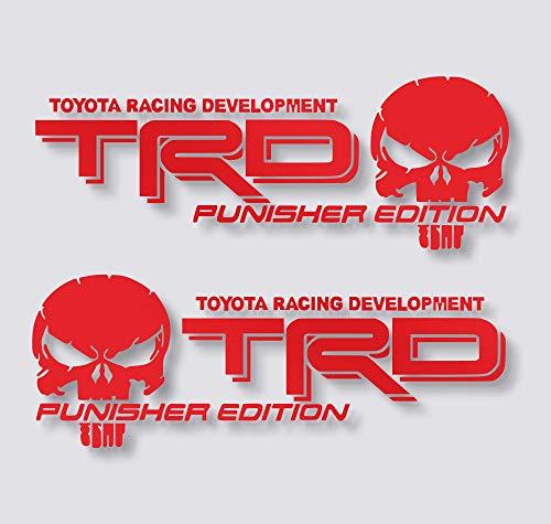 x2 TRD Sticker Punisher Edition Decal Tacoma Tundra Truck Jeep Pickup Car Auto Vinyl (16