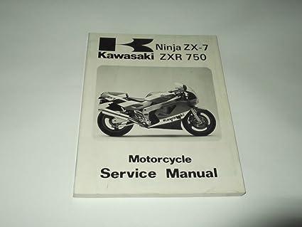 Service manual Kawasaki Ninja ZX-7/ZxR 750 1989: Amazon.es ...