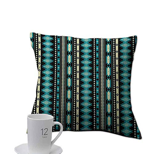 Tankcsard Toy Pillow case Ethnic,Antique Motifs Vertical Ikat Stripes Mayan Cultural Heritage Tradition and Art,Beige Blue Black.jpg 18