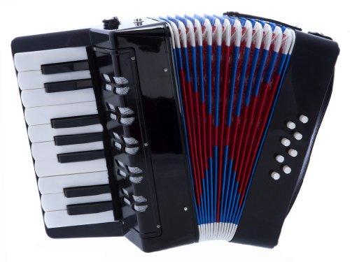 D'Luca G104-BK Kids Piano Accordion 17 Keys 8 Bass, Black -