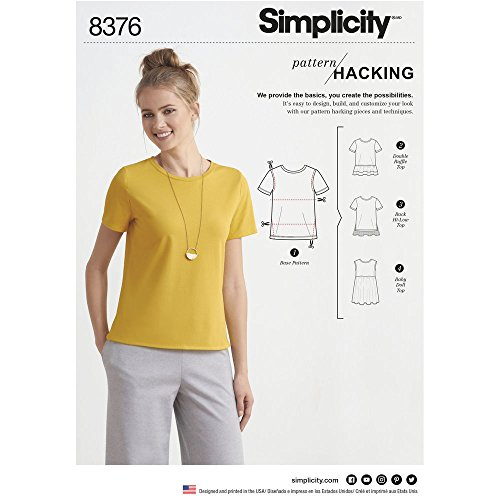 - Simplicity Pattern 8376 // D0658 Misses' Knit Top with Multiple Pieces for Design Hacking Size XXS - XXL