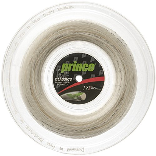 Prince Synthetic Gut with Duraflex 17g White Tennis String Reel ()