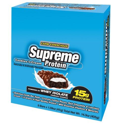 Supreme Protein, Cookies 'n Cream, 9 - 1.59 Oz Bars