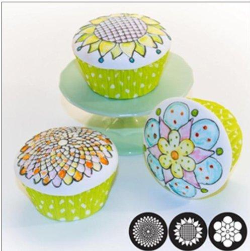 Autumn Carpenter Cupcake and Cookie Texture Tops (Christmas) - 3