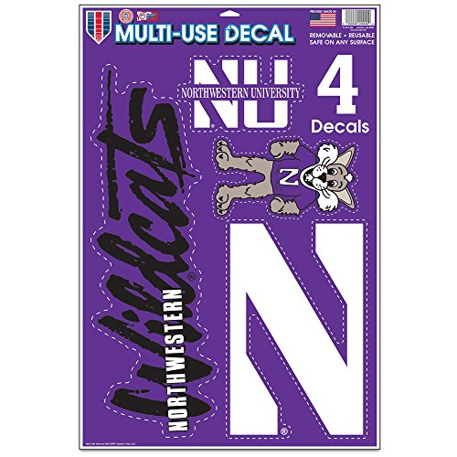 NCAA Northwestern Wildcats Multi-Use Decal Sheet, 11 x 17-Inch, Multi