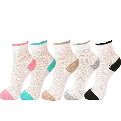 Womens Pointelle Ankle Socks
