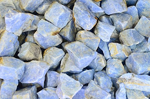 Fantasia Materials: 1 lb Translucent Aqua Blue Aventurine Rough Stones from Mexico - Raw Natural Rocks for Cabbing, Cutting, Lapidary, Tumbling, Polishing, Wire Wrapping, Wicca & Reiki Healing
