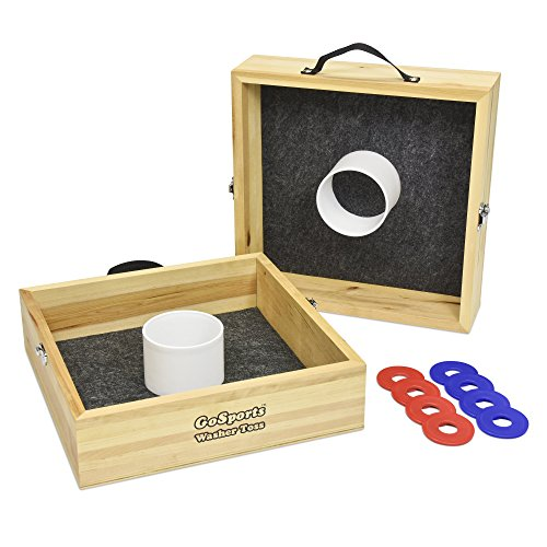 GoSports Premium Birch Wood Washer Toss Game ()