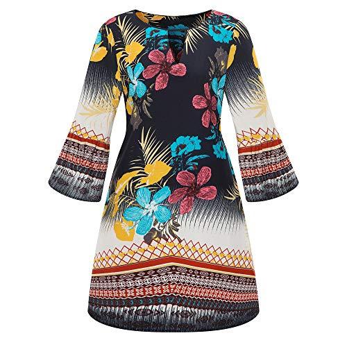 HYIRI Novelty Large Size Casual Mini Dress,Women Evening Party Dress ()