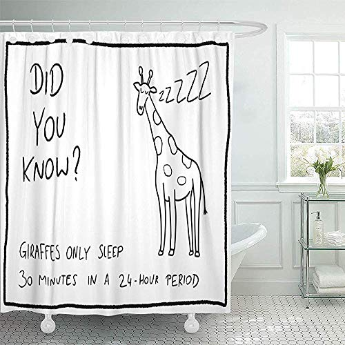 Shower Curtain with Hooks, Know Animal Facts About