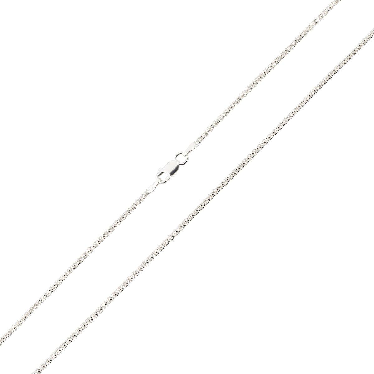 Silberkette Zopfkette Seilkette Halskette Bindeglied Kette 925 Silber 2mm
