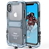 CORNMI Waterproof Case Compatible with iPhone Xs iPhone X Shockproof Case Full Sealed IP68 Certified Waterproof Shockproof Snowproof Protection Underwater Dry Bag Compatible for iPhone X/XS (Black)