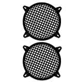 """2 Goldwood Sound SWG-8 Steel Waffle Woofer Grills with Hardware for 8"""" Speakers"""
