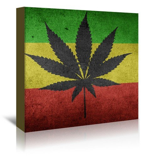 Cannabis Marijuana Wrapped - Cannabis Wall decor