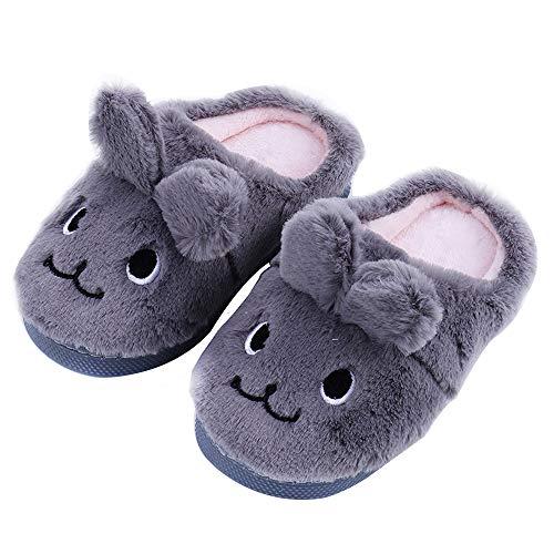 Boys House Slippers Rabbit Girls Toddler little Kids Cute Rubber Sole Women slippers -