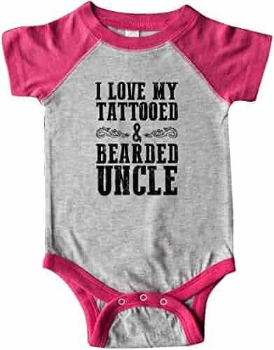 b0cc0bd78 inktastic - I Love My Tattooed & Bearded Uncle Infant Creeper 288e1
