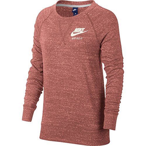 Nike Vintage Jersey - NIKE Womens Gym Vintage Crew Sweatshirt Rust Pink/Sail 883725-685 Size Small