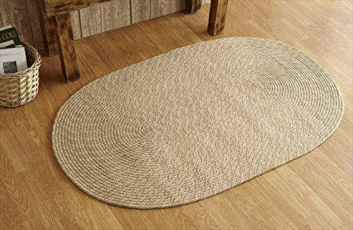 Better Trends / Pan Overseas Palm Spring Braided Rug, 8 x 10', Natural