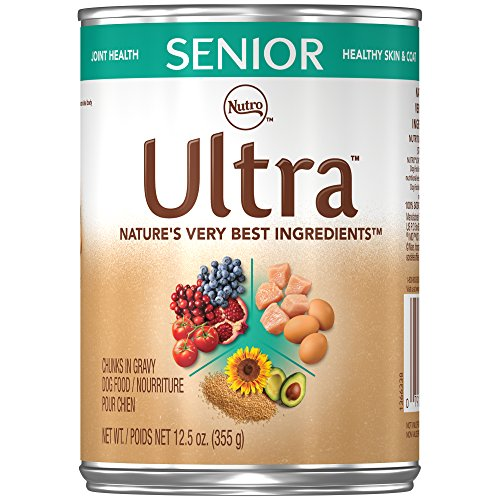 - Nutro Ultra Senior Chunks In Gravy Canned Dog Food 12.5 Oz. Cans (Pack Of 12)