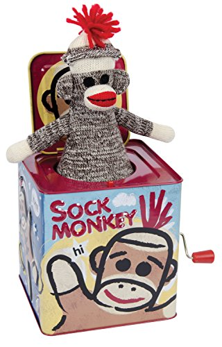 Schylling Sock Monkey Jack in the