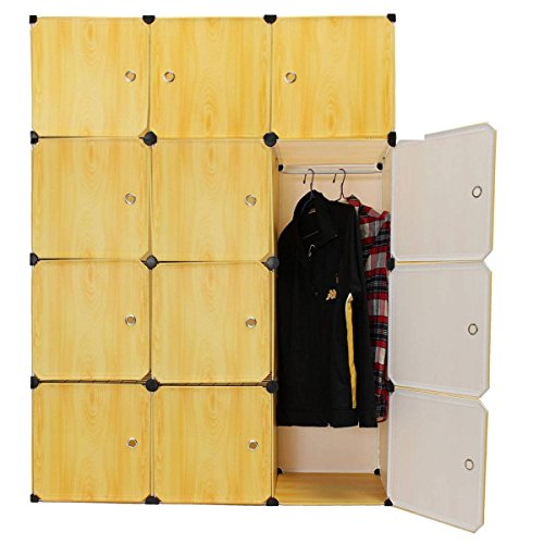 KINGSO Wardrobe Storage Organizer Clothes