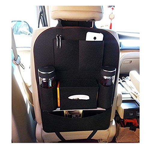 Car Back Seat Organizer Woolen Felt Multi Pocket Backseat
