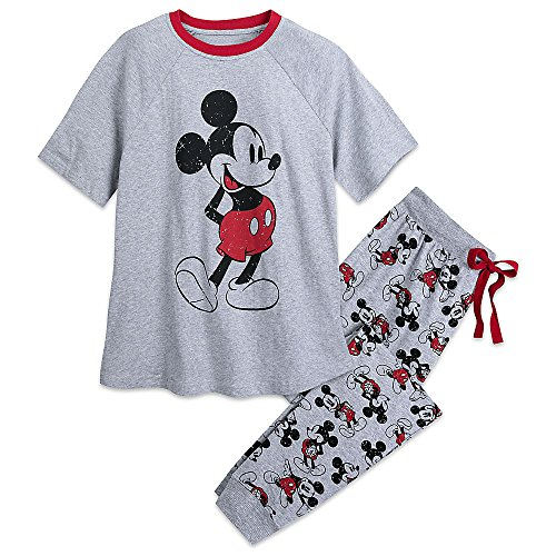 Disney Mickey Mouse Pajama Set For Men - Mickey and Minnie Family Sleepwear Size S 449015678574 at Amazon Mens Clothing store:
