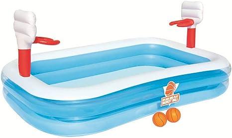 WYZQ Piscina Hinchable Infantil con Canastas Baloncesto Bestway Basketball 254x168x102 Cm: Amazon.es: Deportes y aire libre