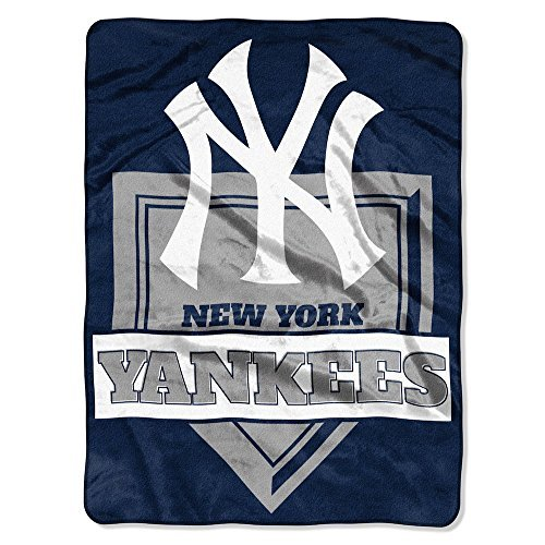 The Northwest Company MLB New York Yankees Royal Plush Raschel Throw, One Size, Multicolor