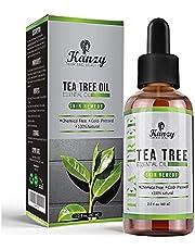 Kanzy Tea Tree Oil för hud 60ml Behandling för hår, ansikte, akne fläckar och naglar Naturlig Vegan Organisk Tea Tree Essential Oil