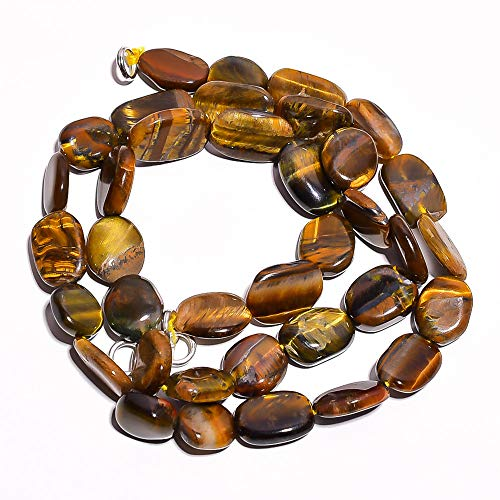 Kanta Incorporation Natural Tiger Eye Gemstone Oval Smooth Beads Necklace 17