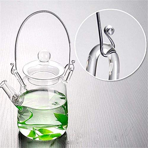 Kleine Theepot, Helder Glazen Theepot Eenvoudige Hoge temperatuurbestendigheid Gekookt water Hittebestendige Borosilicaatglas Thee Potten-360 ML