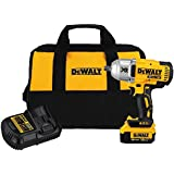 DEWALT 20V MAX XR Impact Wrench Kit, Brushless, High Torque, Detent Pin Anvil, 1/2-Inch (DCF899M1)