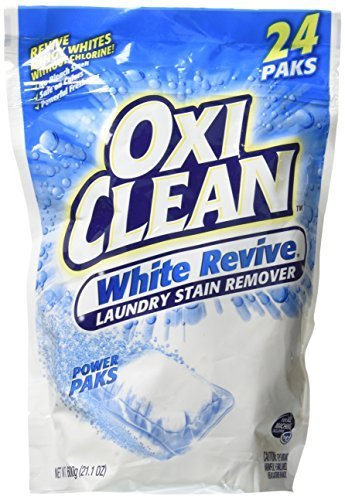 OxiClean White Revive Stain Remover Power Paks, 24 Count (4 Pack)