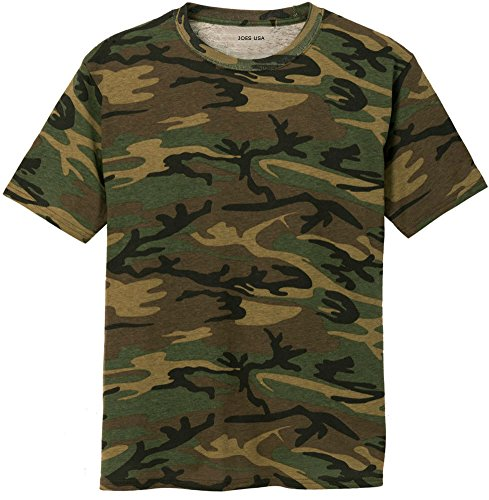 Joe's USA Camo Camoflauge Camo T-Shirt,Large Military Camo