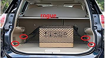 Cargo Net 40 X 24 4 Hooks Nylon Rear Trunk Elastic Mesh for Escape Highlander CRV Rogue Cx-5 SUV by kaungka Guangzhou Kai-long Auto Accessories Ltd.