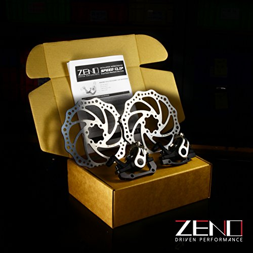 Alloy Mechanical ZENO Speed Clip Road Dual Piston Mechanical Disc Brake Set, Post Mount, 160mm Rotor - Brake Piston Performance