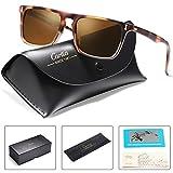 Carfia Rectangular Mens Sunglasses Polarized UV Sunglasses for Driving Travel