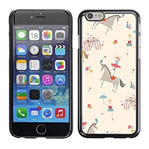ka ka case unique design personality Ballerina Kids Retro Beige - iPhone 6 Plus 5.5