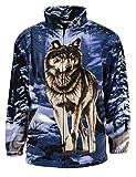Trail Crest Mens Active Rlixio Jacket, Medium Size, Lone Wolf Animal Print