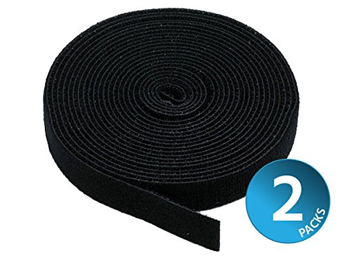 Monoprice 121886 2 Pack Hook & Loop Fastening Tape 5 Yd/Roll
