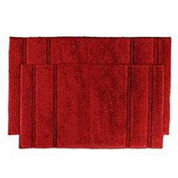 Somette Tranquility Cotton Chili Pepper Red 2-piece Bath Rug Set , Beautiful And Nice Quality.