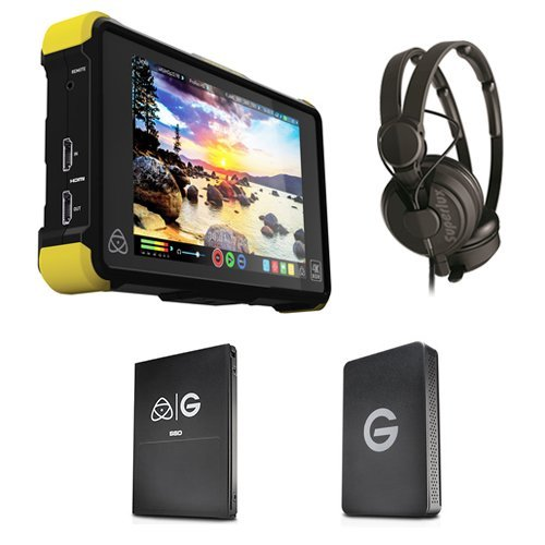 Atomos Shogun Flame with 1TB G-Technology SSD Kit with Superlux HD-562 Professional Headphone by Atomos