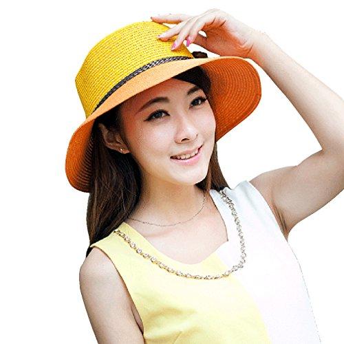 Women Ladies Summer Sun Hat - WITERY Wide Brim Sun Hats Beach Hat Sun Visor Cloche UPF50+ Cap Full UV Protection for Women Girl