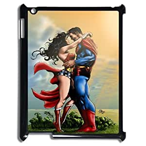 3D Superman and Wonder Woman IPad 2,3,4 2D Case, Ipad Case Hard Design Protective Yearinspace - Black by ruishername
