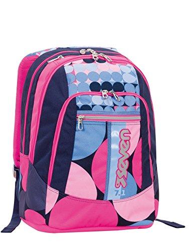 2d5daf4686 Zaino scuola advanced SEVEN - LOUD - Rosa Azzurro 28 LT AURICOLARI  riavvolgibili inclusi - inserti