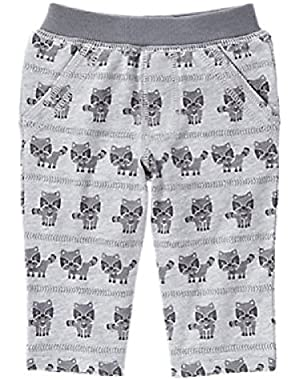 Baby Boy's Raccoon Pull-On Pants