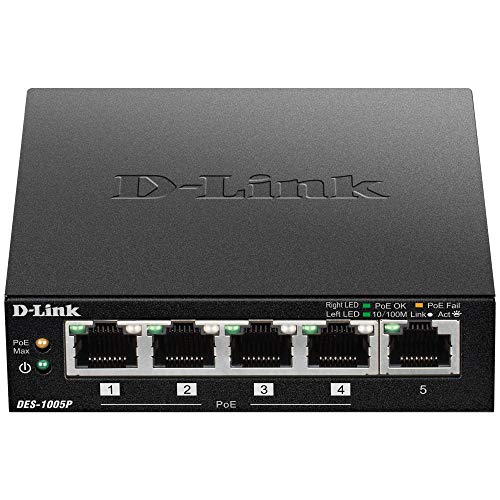 D-Link 5 Port 10/100 Unmanaged Switch with 4 PoE Ports