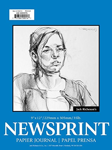 Jack Richeson Rough Newsprint 9'' x 12'' 100 Sheet by Jack Richeson