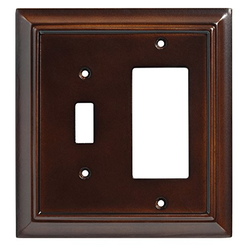 - Brainerd 126382 Wood Architectural Single Toggle Switch/Decorator Wall Plate / Switch Plate / Cover, Espresso